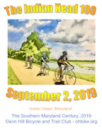 Indian Head 100 - September 2, 2019                      Click for more information and to register